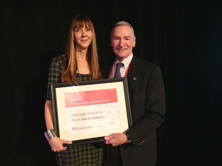 Michelle Navarre School Leader Polaris Silverberg Award Winner 2017 Irwin Silverberg El Education Board Member